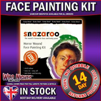 SNAZAROO FACE PAINT HORROR WOUND FACE PAINTING KIT